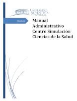 Manual Administrativo Centro Simulación Ciencias de la Salud